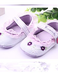 Baby Shoes Casual Fabric Flats Purple/White