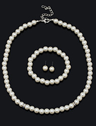 XIXI  Women Latest Fashion Alloy Rhinestone Imitation Pearl Necklace/Earrings/Bracelets Sets