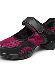 Chaussures de danse(Noir Rouge) -Non Personnalisables-Talon Bottier-Synthétique-Moderne