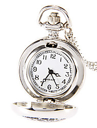 Fashion Round Shape Quartz   Childhood Memories Long Necklace Pocket Watch Silver Jewelry (Silver)(1Pc)