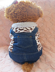 Hunde - Winter - Fasergemisch / Baumwolle / Terylen - Leopard - Braun - T-shirt - XS / S / M / L