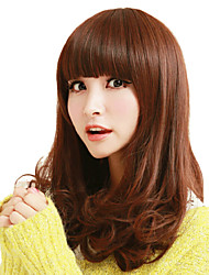 Japan and South Korea Fashion with Brown Curly Hair Wig