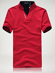 The summer of 2015 men's T-shirt summer men's T-shirt collar Mens summer coat color