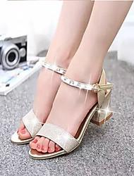 Zapatos de mujer - Tacón Robusto - Comfort - Sandalias - Boda / Exterior / Oficina y Trabajo / Vestido / Fiesta y Noche - Purpurina -