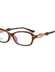 [Lentes FREE] Homens/Mulheres 's Acetato/Plástico Retângular Moldura Metade Nerd e Chique/Cristal Óculos de grau