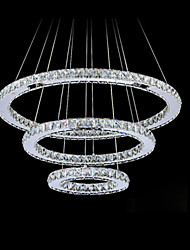 LED Crystal Ceiling Lights Pendant Chandelier Light Lighting Fixtures with LED Warm and LED Cool White D204060cm CE UL