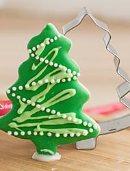 corte navidad pino forma cortadores de galletas de frutas moldes de acero inoxidable