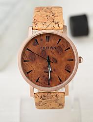 unisex relojes de estilo europeo reloj de madera de época los hombres y mujeres de caso impermeable reloj