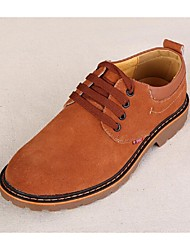 Men's Shoes Casual Suede Oxfords Brown/Gray