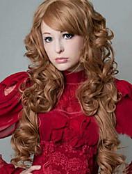 European and American Fashion Brown Girl Big Waves Natural Wigs