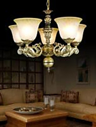 Chandeliers Five Lights 220V Bronze European Retro Classic