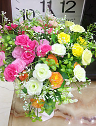 High Quality Artificial Flowers for Home Decoration Bright Color Rose Silk Flower for Wedding Bouquet and Decorations