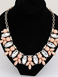 Necklace Choker Necklaces / Statement Necklaces Jewelry Party / Daily / Casual Alloy Yellow / Blue / Pink 1pc Gift