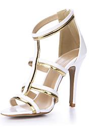 Women's Sandals Summer Comfort PU Wedding Party & Evening Dress Stiletto Heel White