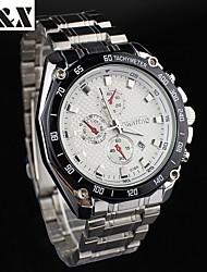 Men's Fashion Water-Proof Classic Quartz  Steel Belt Watch(Assorted Colors)