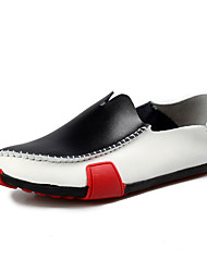 Men's Shoes Office & Career/Casual Leather Loafers Black/Blue