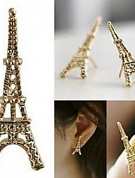 Eiffel Tower Alloy Stud Earrings