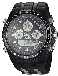 Men's Steel Band Watch Number and Strips Marks with Round Dial  Watchband