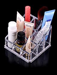 12 transparentes et des boîtes de cosmétiques acryliques