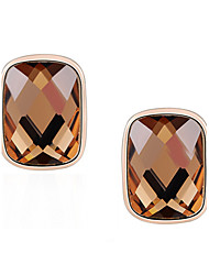 Z&X® Simple Square Crystal Stud Earrings Wedding/Party/Daily