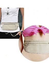 duplo bolso dinheiro cinto ultra-fino passaporte waistpack saco cinza claro