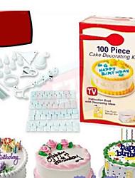 100pcs kit de décoration de gâteau