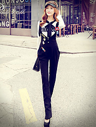 Pink Doll®Women's Casual/Print Button Straight Suspender Trousers