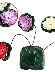 Solar Lotus Light Floating Pond Garden Pool Nightlight Solar Power LED Lamp Out