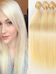 """4 pcs beaucoup 12 """"-24"""" cheveux vierges brazilian # 613 cheveux raides humaine brésilien fagots nouvelle arrivée"""