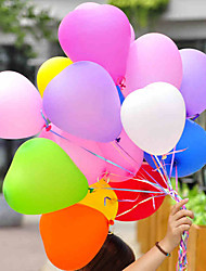 100pcs Heart Shape Balloons Occasions Wedding Birthday Party Decoration  Heart-Shape Latex Balloon