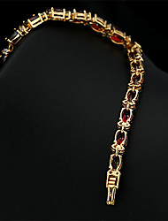 2015 New Brand 5mm*180mm JewelOra Fashion Women Ruby CZ Charms Classic Tennis Bracelets