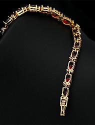 2015 New Brand 5mm*180mm JewelOra Fashion Women Ruby CZ Charms Classic Tennis Bracelets