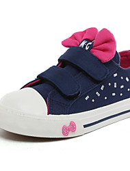 free shipping 2015 classic princess bowknot little&toddler girls shoes children canvas shoes dot printed low cut