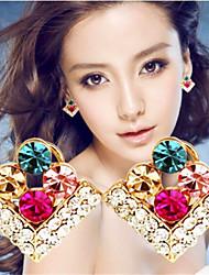 Pendiente ( Piedra Preciosa y Cristal Casual