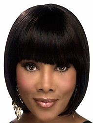 Hot Selling Unprocessed 10-30inch Bob Straight With Bangs Lace Front Wig & U Part Wig 100% Brazilian Human Hair