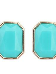 Women's Fine Fashion Simple Stud Earrings With Rhinestone