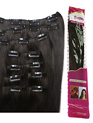 Ibeshion Affordable 130grams 9pcs 19 Clips Straight Clip In Human Hair Extensions #1b #2 #4 #6 Brazilian Remy Hair
