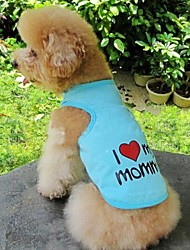 Cat / Dog Shirt / T-Shirt Orange / Blue / Pink / Gray Dog Clothes Summer Letter & Number / Hearts Wedding / Cosplay