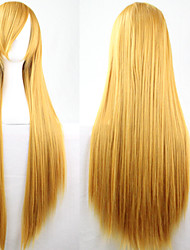 New Anime Cosplay Golden Long Straight Hair Wig 80CM