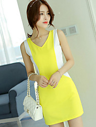 Women's Bodycon Solid Bodycon Dress Knee-length Polyester