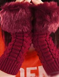 Women Cute Lovely Fashion Twist Yarn Warm Gloves