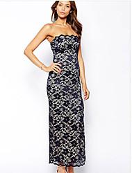 NUNEU    vWomen's Vintage Off-the-shoulder Dresses (Cotton/Lace)