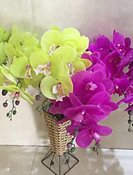 un ensemble de 1 nobles fleurs 9 têtes en tissu papillon orchidée (1pcs)