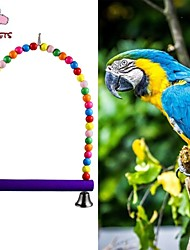 FUN OF PETS® Colorful Wooden  Swing Toys  Cage Hanging for Birds(Random Color)