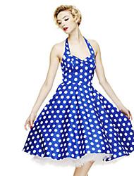 Women's Vantage Loose Cute Polka Dots Dress