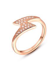 z & x® simples declaração anéis de zircão relâmpago do casamento / partido / diária
