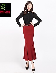 YIMILAN® Women's Vogue of New Fund of 2015 Tail Step Long Skirts