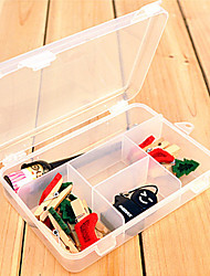 Transparent Plastic See-Throught Storage Box with 5 Compartments