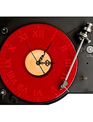 efeito 3d pag®modern cd player vermelho preto relógio de parede 14,9 * 15 polegadas / 38 * 40cm