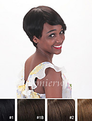 Short Human Hair 4-6inch Unprocessed Virgin Remy Malaysian Hair Machine Made None Lace Wigs